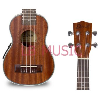 Davis Soprano with pickup and tuner Mahogany Ukulele Ukelele(Natural) - 4