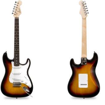 Davis Stratocaster with Portable Amplifier Electric Guitar PackageST-1 (Sunburst) - 4