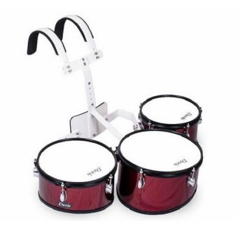 Davis Triple Marching Drums (Wine Red)