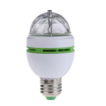E27 3W Colorful Auto Rotating RGB LED Bulb Stage Light Party LampDisco - intl - 2