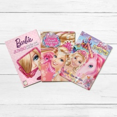 Easy To Learn Books Barbie 3 Piece Coloring And Activity Book Set