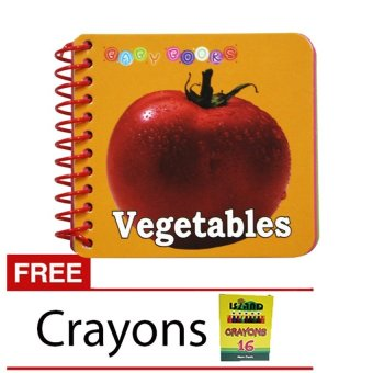 Educational Baby Book Vegetables with Free 16 Colors Crayon