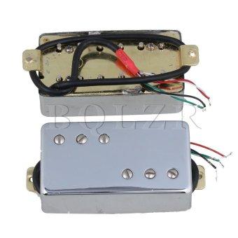 Electric Guitar Bridge & Neck Humbucker Pickup Set of 2 Silver- intl - 3