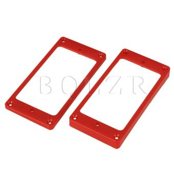 Electric Guitar Humbucker Pickup Frames Cover Plate Set of 2 Red