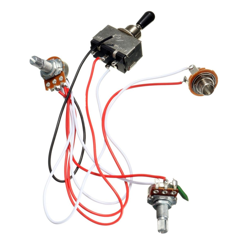 Philippines Electric Guitar Wiring Harness Kit 3 Way Toggle Switch Pickup 1v2t 5 500k Pots For Fender 1 Volume Tone Pot