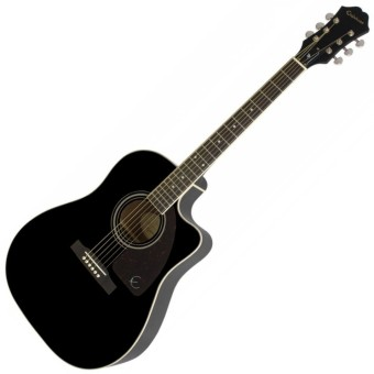 Epiphone AJ-220SCE Acoustic-Electric Guitar (Ebony)