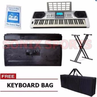 Global GL-326 LCD Electronic Keyboard With Stand and Case (Silver) Price Philippines