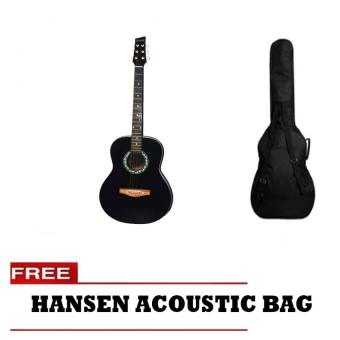 Hansen Acoustic Guitar with Free Bag (Black)