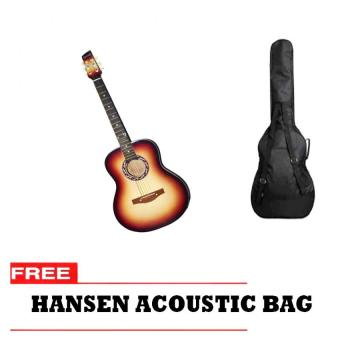Hansen Acoustic Guitar with Free Bag (Sunburst)