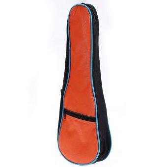 HKS Ukulele Uke Soft Padded PU Gig Bag Case 21 Inch Orange - Intl