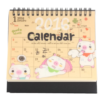 New 2016 Cartoon Calendar Desk Table Office Flip Stand Planner Memo Daily Yearly – intl