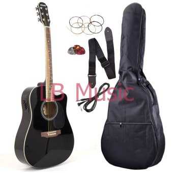 Harga Adonis International with 4eq pickup acoustic guitar (Black)
