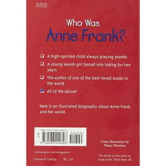 Who Was Anne Frank? Price Philippines