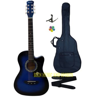 Harga Premiere High Quality Acoustic Guitar(Blue)