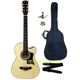 Harga Premiere High Quality Acoustic Guitar (Natural Wood)
