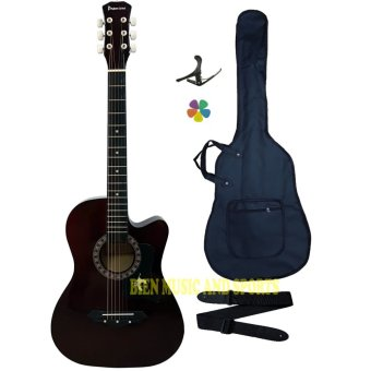 Harga Premiere High Quality Acoustic Guitar(Brown)