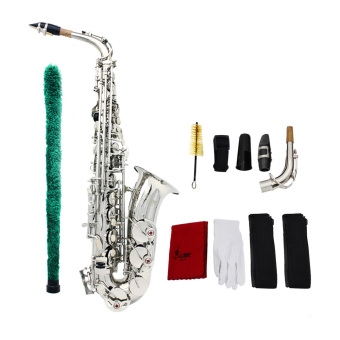 Saxophone Sax Eb Be Alto E Flat Brass Carved Pattern on Surface Plastic Mouthpiece Exquisite (Intl) Price Philippines