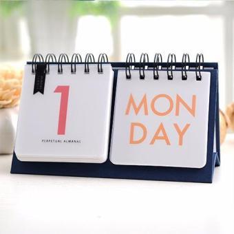 Mini Desk Perpetual Almanac Calendar