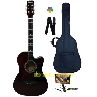 Harga Premiere Acoustic Guitar With Detachable Guitar Pick Up(Brown)