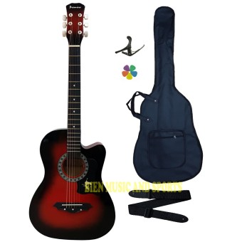 Harga Premiere High Quality Acoustic Guitar(Red Burst)