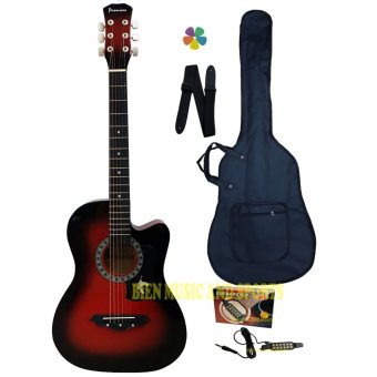 Harga Premiere Acoustic Guitar With Detachable Guitar Pick Up(Red Burst)
