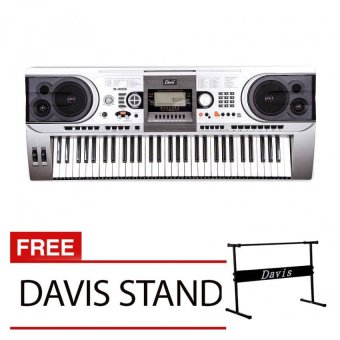 Harga Davis D-955 Digital Piano with Free Davis Stand (Silver)