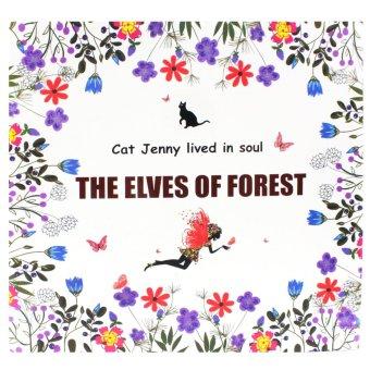 Inspire Zen Elves Forest Anti Stress Coloring Book Multicolor