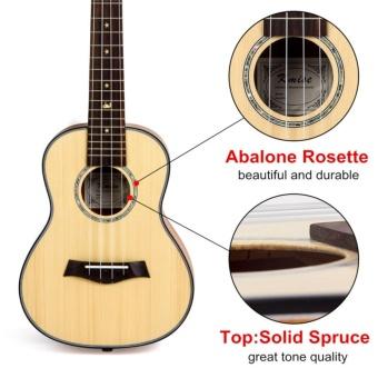 Kmise Classical Concert Ukulele Beginner Kit Solid Spruce Mahogany23 Ukelele Hawaii Guitar for Starter and FREE 9 GIFTS - intl - 4