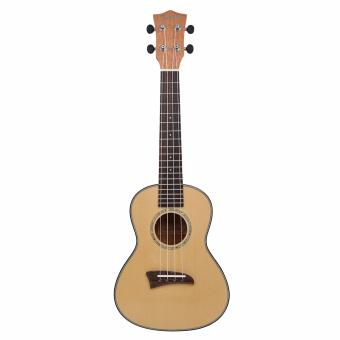 Kmise Solid Spruce Top Concert Ukulele 23 inch Hawaii GuitarMahogany Back Bone Saddle W/Bag JOYO Tuner - intl - 3