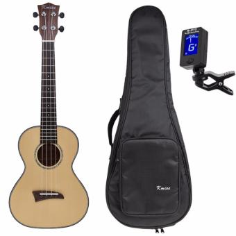 Kmise Solid Spruce Top Tenor Ukulele 26 inch Hawaii Guitar Rosewood Back Bridge W/Bag and Tuner - intl