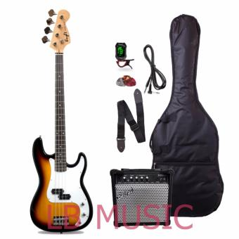 Knight electric bass guitar w/ 15watts heavy duty bass amp andtuner complete package (Sunburst) Price Philippines