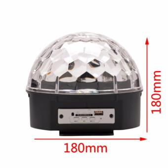 Lighting Crystal Magic Ball Christmas Light SD Card MP3 Speaker DMX512 DJ Lights Dance Club Party Disco Ball Lamps KTV Bar Effect Lighting Show + Remote Control - 2