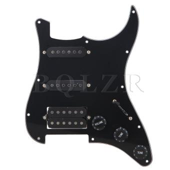 Loaded Pickguard SSH For Guitar Black