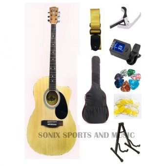Lyon by Washburn 4EQ Acoustic Electric Guitar Starter Package(Natural)