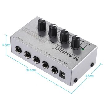 MX400 Ultra-compact Low Noise 4 Channels Line Mono Audio Mixer with Power Adapter Outdoorfree - intl - 3
