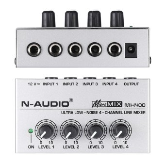 MX400 Ultra-compact Low Noise 4 Channels Line Mono Audio Mixer with Power Adapter Outdoorfree - intl - 4