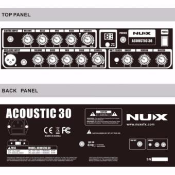 NUX AC30 30 Digital Acoustic Guitar Amplifier FREE Cable Cord - 2