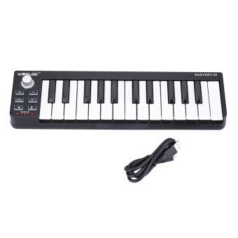 Portable Mini 25-Key USB MIDI Keyboard Controller with USB Cable - 2
