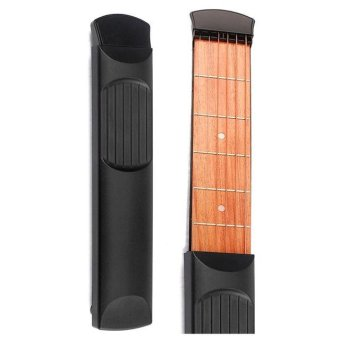 Portable Pocket Guitar 6 Fret Model Wooden Practice 6 Strings Guitar Trainer Tool Gadget for Beginners - intl