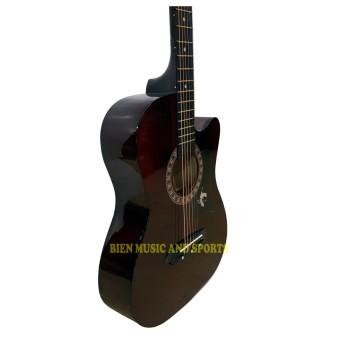 Premiere Acoustic Guitar With Detachable Guitar Pick Up(Brown) - 2