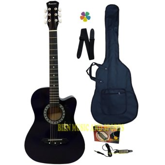 Premiere Acoustic Guitar With Detachable Guitar Pick Up(DarkViolet)
