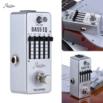 Rowin Bass Guitar Equalizer Effect Pedal 5-Band EQ Aluminum AlloyBody True Bypass - intl