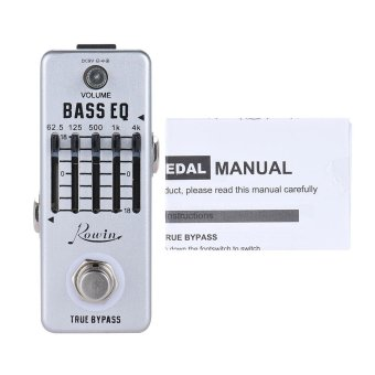 Rowin Bass Guitar Equalizer Effect Pedal 5-Band EQ Aluminum AlloyBody True Bypass Outdoorfree - intl - 4