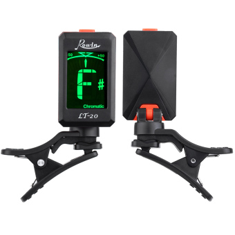 Rowin LT-20 Clip-On Automatic Digital Electronic LCD Tuner for Acoustic Electric Guitar Bass Violin Ukulele Orange (Intl)