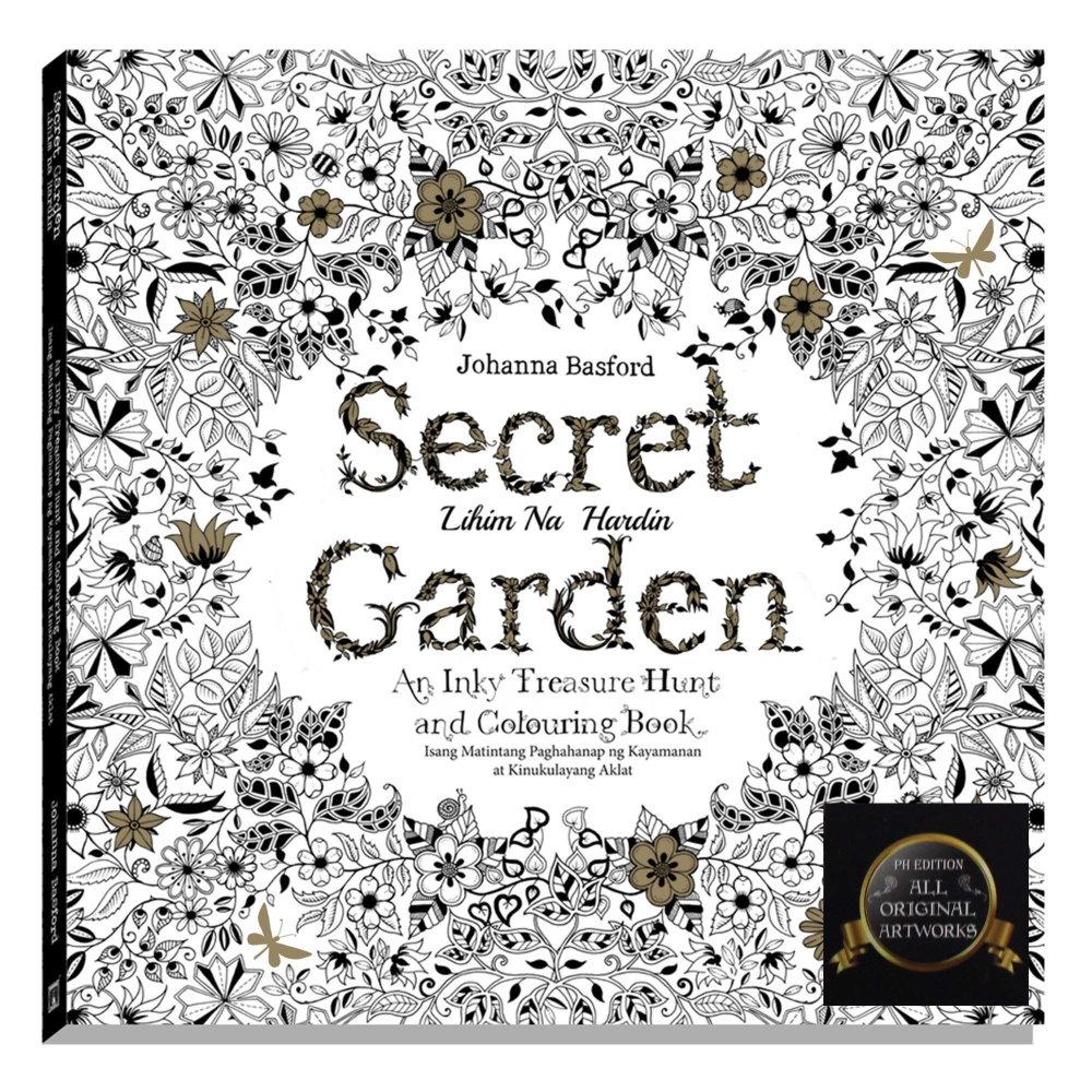 Secret Garden Adult Coloring Book THE FILIPINO EDITION