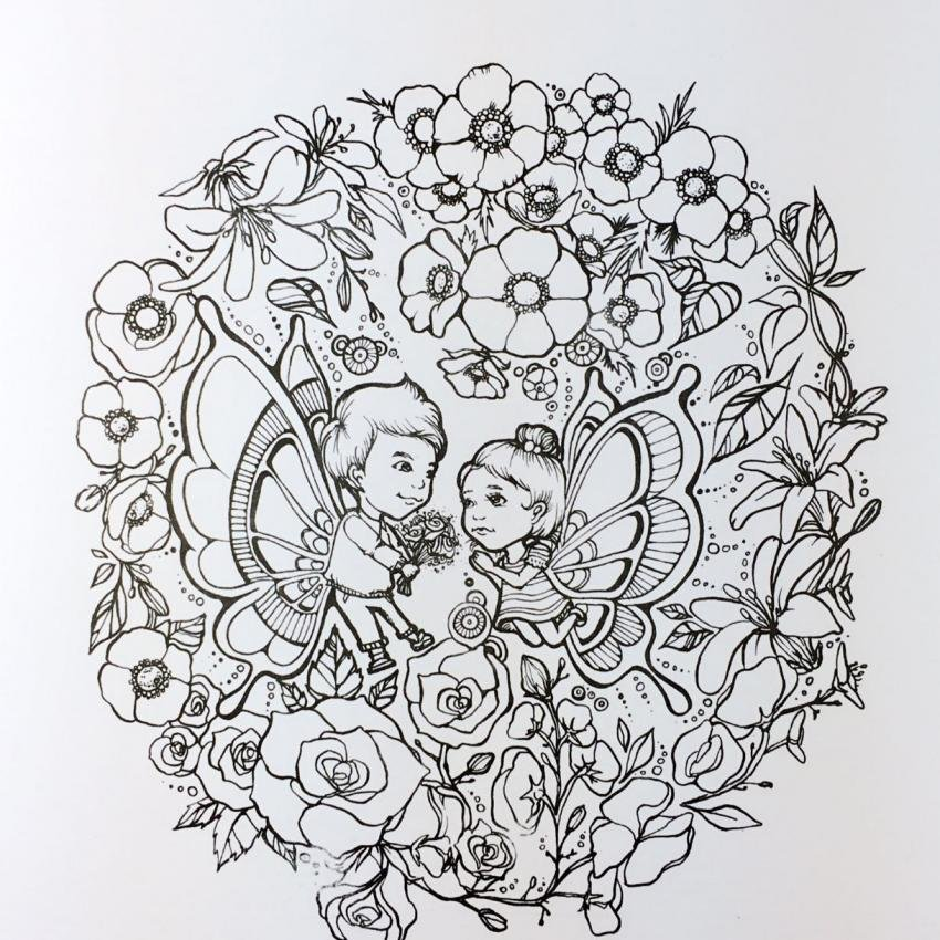 Secret Garden Dream Girl 2016 New An Inky Treasure Hunt AndColoring Book For Children Adult Relieve
