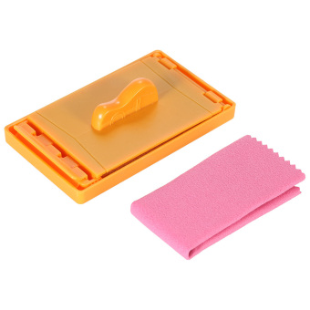 Small Exquisite Guitar String Cleaner High Quality Wool Felt inside W/ Microfiber Cloth (Intl)