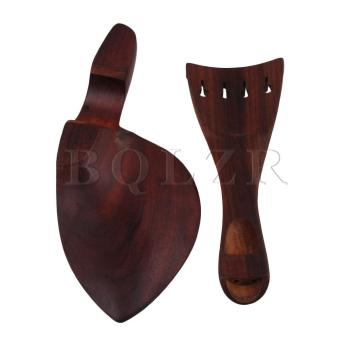 Sour Wood Chinrest Tunners Tailpiece Endpin Violin Parts Red-brown- intl - 3
