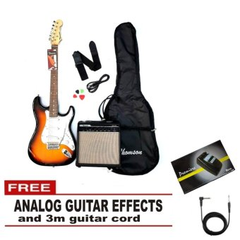 Thomson Electric Guitar Package (Sunburst) With FREE Analog Effects Flanger