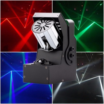 U'King Stage Light Mini Rotating Prism Roller Beam Scanner Effect Lamp 30W 4 IN 1 LED 8-side Rotating Prism Light for DJ Disco KTV Club Bar Party - intl Price Philippines